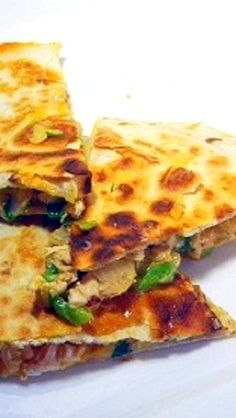 Cajun Garlic Aioli Quesadilla... Made with meat from a store bought rotisserie chicken, these are FANTASTIC!  LOADED with plenty of extras but the star is the CAJUN SPICED AIOLI!  FANTASTIC!  and EASY EASY EASY Bar Snacks at HOME CHEAP!
