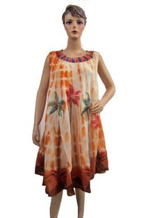 Women's Brown Gypsy Tie Dye Sleeveless Embroidered Beach Cover-up Long Dress Mogul Interior, http://www.amazon.com/dp/B008IDQWGM/ref=cm_sw_r_pi_dp_Bqb-pb0FMC3EC