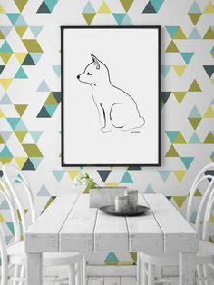 Die selbstklebende Tapete mit bunten Dreiecken von CGhome über Etsy ist die perfekte Lösung für Mietwohnungen, da sie sich ganz easy und ohne Rückstände entfernen lässt, um 24 Euro. Toll!Coole DIY-Ideen von den angesagtesten Blogs:DIY- und Wohnblogs