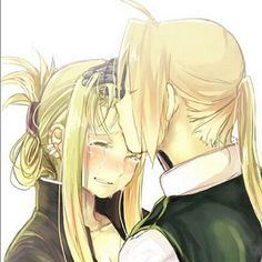 Edward Elric and Winry Rockbell from fullmetal alchemist/ brotherhood :))