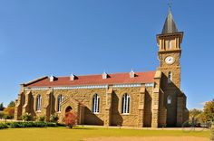 Dutch Reformed church of Rouxville, Eastern Cape, South Africa. Church Pictures, Cathedral Church, Church Building, Place Of Worship, Old Buildings, Kirchen, Sunrises, Cathedrals, Christianity