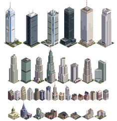 from Simcity 2000 Minecraft Building Guide, Minecraft House Plans, Cute Minecraft Houses, Minecraft Room, Minecraft House Designs, Minecraft Blueprints, Minecraft Creations, Minecraft Skyscraper, Minecraft Modern City
