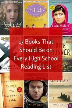 13 Books That Should Be on Every High School Reading List (scheduled via http://www.tailwindapp.com?utm_source=pinterest&utm_medium=twpin)