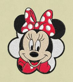 3 Minnie Mouse face embroidery 3 designs pes hus by ViolaFashion