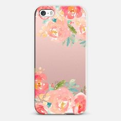 Watercolor Flowers Iphone Case - Peonies Multicolored