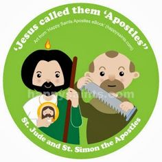 'Jesus called them 'Apostles'' St. Jude, Jesus' cousin. With Bartholomew, he brought the gospel to Armenia. Patron saint of desperate and lost cause, and the blind. St. Simon the Zealot. Simon spread the gospel to the Middle East and Africa. Feast Day Oct 28 Happy Saints