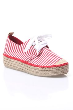 Yoki Summer 86 Espadrille Sneaker in Red - Beyond the Rack