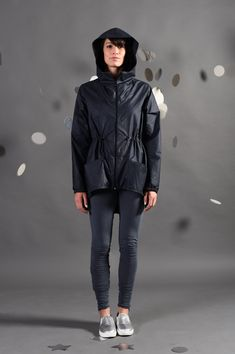 Designed Raincoat Nylon Jacket for women with hood. More Colors: …