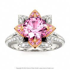 Pink Lotus Ring #sapphire #engagement #ring
