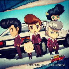 jajaja Tsuna, Yamamoto, Gokudera, I-Pin y Lambo con el peinado de Kusakabe XDXDXD