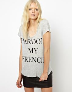 Just Female | Just Female Pardon My French T-Shirt at ASOS