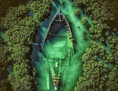 Sunken abandoned ship surrounded by greenery and trees. Abandoned Ships, Abandoned Places, Aerial Photography, Nature Photography, Travel Photography, Ukraine, Aerial Drone, Film Inspiration, Creative Pictures