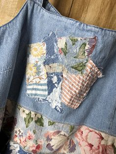 Up cycled Women s Tunic Dress Re cycled Denim Repurposed Denim Top db9d0f273e2a