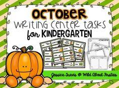 October Writing for Kindergarten! {freebie}