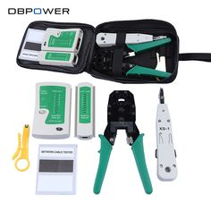 Network Ethernet Cable Tester RJ45 Kit RJ45 Crimper Crimping Tool Punch Down RJ11 Cat5 Cat6 Wire Line Detector