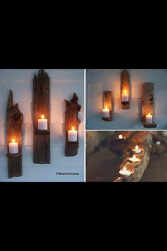 Reminds me of the driftwood at Lake Michigan... great way to recycle something creative!.