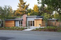 modern-wood-siding-Exterior-Midcentury-with-clean-deck-entrance ...