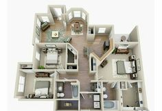 One, Two & Three Bedroom Apartments for Rent Sims House Plans, House Layout Plans, Dream House Plans, Small House Plans, House Layouts, House Floor Plans, Sims 4 House Design, Small House Design, Casas The Sims 4