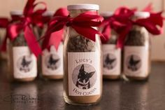 Sweet hot chocolate wedding favors featuring the couple's adorable little pup! Chris Richards Photography // csrichards.com