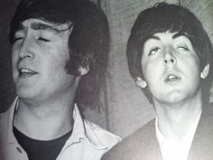 John Lennon and Paul McCartney (Their faces! Beatles Band, Beatles Love, Liverpool, Beatles Funny, John Lennon Paul Mccartney, The Fab Four, John Paul, Ringo Starr, No One Loves Me