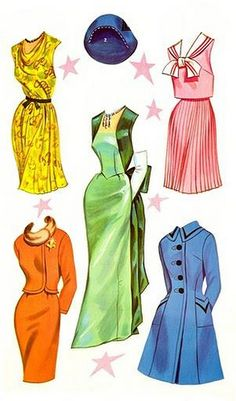 BRINDA STARR* 1500 free paper dolls at Arielle Gabriel's The Internatioal Paper Doll Society and Arielle Gabriel's art, prints, paintings as well. Paper Dolls Clothing, Barbie Paper Dolls, Vintage Paper Dolls, Doll Clothes, Fashion Art, Vintage Fashion, Fashion Design, 1960s Fashion, Paper Art