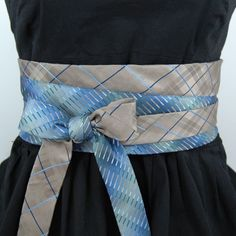 Upcycled Necktie Obi Belt