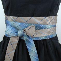 Upcycled Necktie Obi Belt