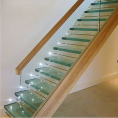 Glass stairs for Cinderella's down town apartment.