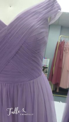 Elegant Long Off Shoulder Tulle Affordable Lavender Purple Bridesmaid Dress from Tulleandchantilly Tulle Wedding, Dream Wedding, Purple Bridesmaid Dresses, Tulle Dress, Long Dresses, Lavender, Palette, Party Ideas, Wedding Ideas