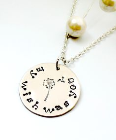 "Valentine's Day is around the corner! Why not show her how much you care by having ""My Wish Was You"" on a hand stamped necklace!  I have hand stamped it on to a lovely German Silver Disc and then put it on to a very nice silver plated cable chain.  $25  https://www.etsy.com/ca/listing/265467593/my-wish-was-you-necklace-valentines-day?ref=shop_home_active_8"