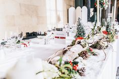 Since the Woburn Abbey wedding was taking place during the month of December, it was filled with such a cosy festive feel. Wedding Table Decorations, Wedding Centerpieces, Centrepieces, Woburn Abbey, Big Day, Red And White, Wedding Photography, Destination Weddings, Manchester