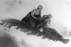 Flying carpet scene from the silent movie, 'The Thief of Bagdad', 1924