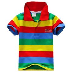 New Summer 1-7Y Baby Children Boys Striped shirt Kids Tops Sports Tee Polo Shirts Clothing LZH7 #>=#>=#>=#>=#> Click on the pin to check out discount price, color, size, shipping, etc. Save and like it!