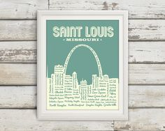 St. Louis Neighborhoods Poster, St. Louis Arch, Saint Louis, St. Louis, St Louis Poster, Typography, St. Louis Map, Arch, Missouri, Art by BentonParkPrints on Etsy https://www.etsy.com/listing/180435869/st-louis-neighborhoods-poster-st-louis