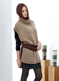 - n° 713 Tunique Tricothèque BDF - free Easy Crochet Patterns, Knitting Patterns Free, Free Knitting, Free Pattern, Thick Sweaters, Cool Sweaters, Tunic Pattern, Knitting Yarn, Pulls