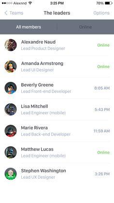 Members list exploration