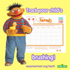 February is National Oral Health Month!  Make sure your preschooler is cleaning his/her teeth for a great smile by using this FREE Brush Chart. For this printable and other free resources: sesamestreet.org/teeth
