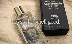 Boys who smell good