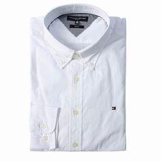 Tommy Hilfiger Long Sleeve Dress Shirts White Free Shipping Long Sleeve Shirt Dress, Dress Shirts, Tommy Hilfiger Shirts, Dresses With Sleeves, Free Shipping, Mens Tops, Fashion, Moda, Suit Shirts