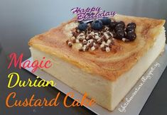 LY's Kitchen Ventures: Magic Durian Custard Cake
