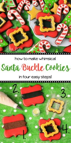 Santa Buckle Cookies with Lila Loa – The Sweet Adventures of Sugar Belle