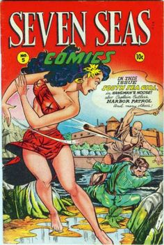 Seven Seas Comics #5 by Matt Baker.