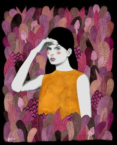 Dalila at night Art Print by Sofia Bonati