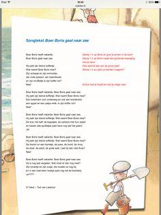 Songtekst: Boer Boris gaat naar zee.