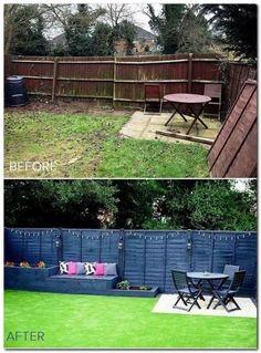 artificial_grass_garden_makeover_before_after - Annelies Schutten Tuin ideeën
