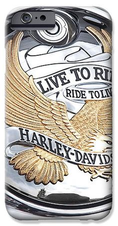 This photo of the classic golden eagle emblem on a Harley Davidson motorbike, live to ride, ride to live, makes a great cell phone cover. These cellphone cases are available for iPhone4 iphone5 iphone6 samsung galaxy s4 and s5 #phonecases #phonecovers #harleydavidson #biker