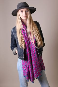 Women's Zebra Animal Print Deep Pink Scarf Fashionable Scarves, multicolor scarf, wool shawls, pashmina shawls, sarong wraps, cute, pretty, unique scarves, affordable, versatile shawls, designer scarves, hand-printed, stylish, modern, trendy, super soft, best value, great deals, boho chic, hippie style, infinity circle loop shawls, sexy cute infinity scarves, stripes, animal prints,
