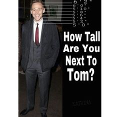 How tall are you next to Tom Hiddleston. Perfect height for neck kisses and earlob bites Thomas William Hiddleston, Tom Hiddleston Loki, Fangirl, One Step, Marvel Memes, Videos Funny, American, How To Look Better, At Least