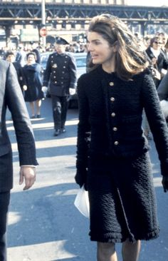 """November 1970, Cardinal Cushing's funeral, (First Lady Mrs ~~Jacqueline Lee (Bouvier) Kennedy Onassis """"Jackie"""" (July 28, 1929 – May 19, 1994). She is remembered for her contributions to the arts and preservation of historic architecture, her style, elegance, and grace. She was a fashion icon; her famous ensemble of pink Chanel suit and matching pillbox hat has become symbolic of her husband's assassination and one of the lasting images of the 1960s ) RIP ❤❁❤ RIP"""
