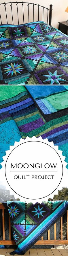 Moonglow quilt kit quilting project